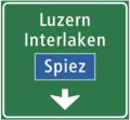CH-Hinweissignal-Einspurtafel über Fahrstreifen auf Autobahnen und Autostrassen.png