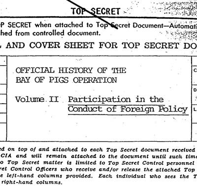 CIA cover report Bay of Pigs