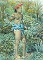 COLLECTIE TROPENMUSEUM Kleurenlitho getiteld Hoofd der Poenans TMnr 5795-28.jpg