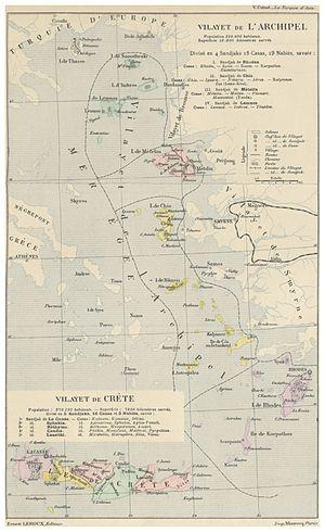 Vilayet of the Archipelago - Image: CUINET(1890) 1.388 Vilayet of the Archipelago