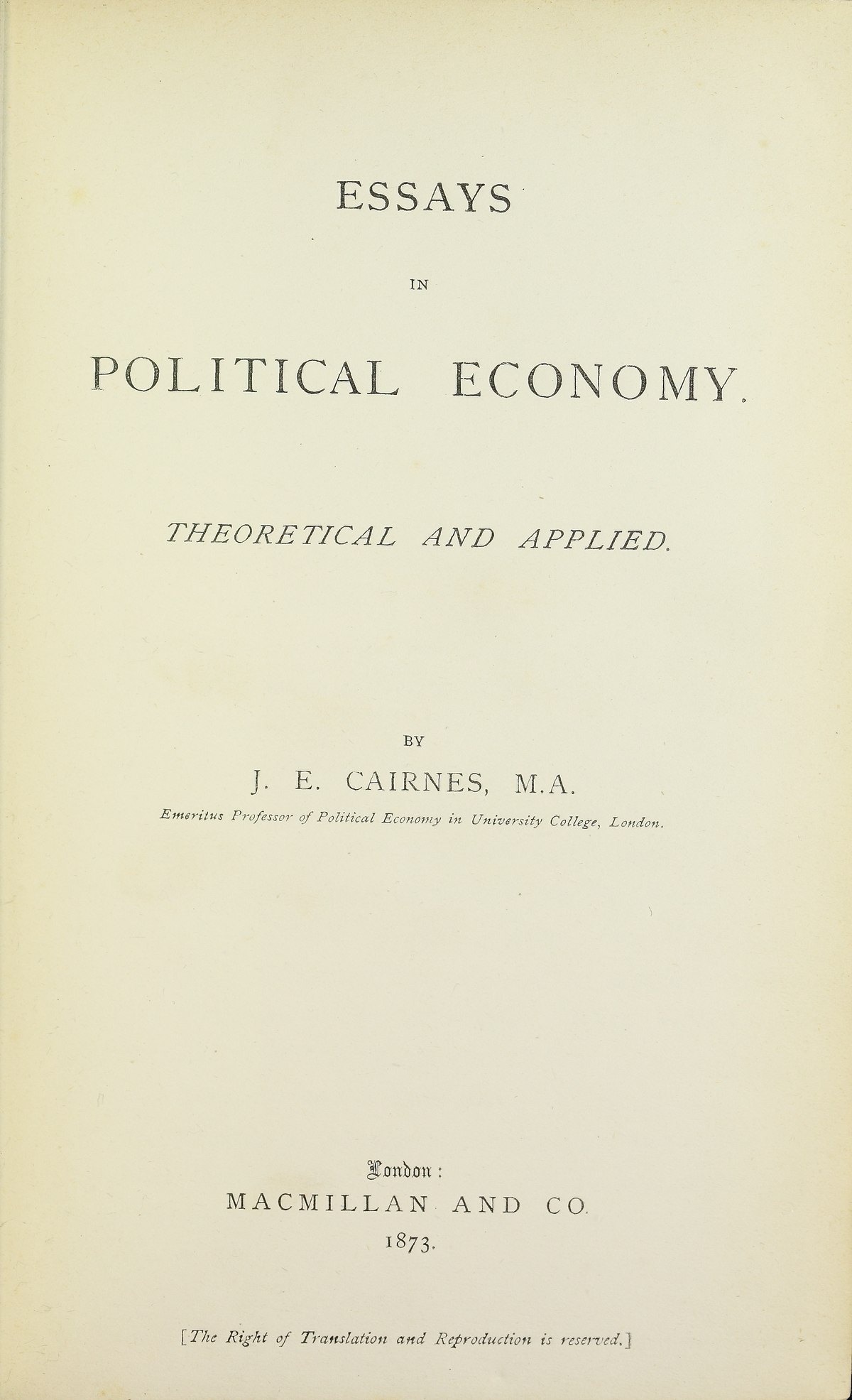 essays in political economy leslie Gdp now matters more than force a us foreign policy for the age of economic power.