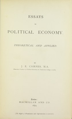 Essays Designed To Elucidate The Science Of Political Economy : Horace ...
