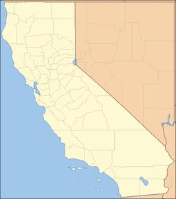 Stedets beliggenhed i Kalifornien