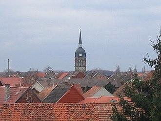 Calvörde - Calvörde roofs with St George's Church