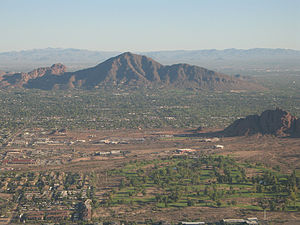 Camelback Mountain - Image: Camelback Mountain aerial view