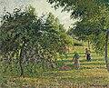 Camille Pissarro - Pommiers et faneuses, Eragny (1895).jpg