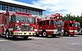 Camions de pompier vue de côté, caserne d'incendie des Capucins, Québec.jpg