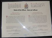 Canadian Officer's commission for a male naval officer
