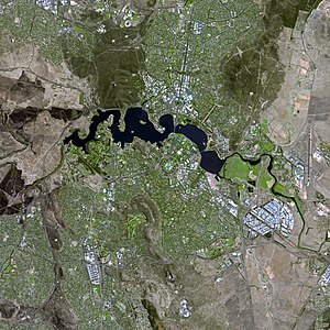 Canberra - The Canberra region seen from space