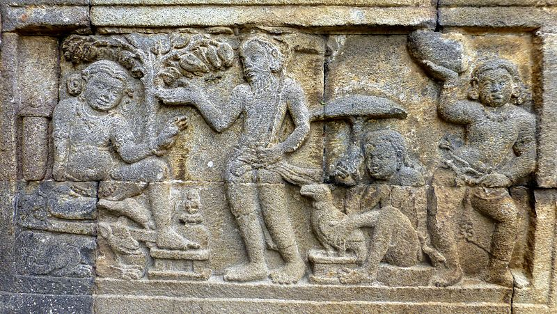 File:Candi Mendut - Reliefs - 033 Jataka Tale (11833015634).jpg