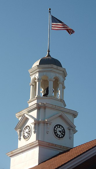 Cannon County Courthouse - Courthouse clocktower