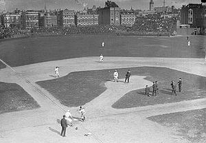 West Side Park - Cap Anson throws out the first ball of 1908