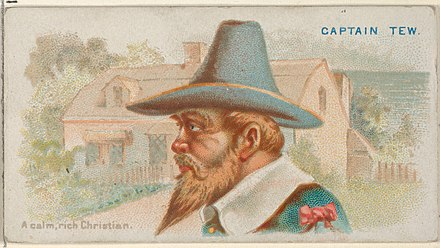 Captain Tew, A Calm, Rich Christian, from the Pirates of the Spanish Main series (N19) for Allen & Ginter Cigarettes MET DP835034 Captain Tew, A Calm, Rich Christian, from the Pirates of the Spanish Main series (N19) for Allen & Ginter Cigarettes MET DP835034.jpg