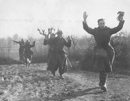 German soldiers surrendering in April 1945. Capture of Germans on Syrmian Front.jpg