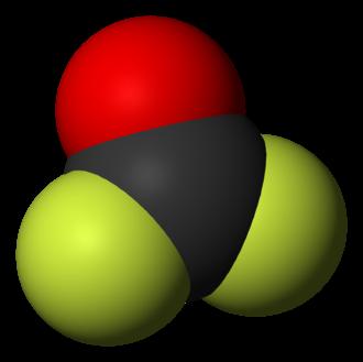 Carbonyl fluoride - Image: Carbonyl fluoride 3D vd W