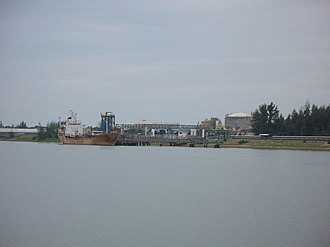 Kuantan Port - Cargo loading at one of the liquid chemical berths at Kuantan Port