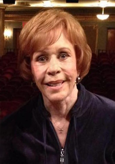 Carol Burnett, American actress, comedienne, and singer