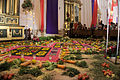 Carpet and decoration in San José Catedral for Semana Santa in Antigua, Guatemala.jpg