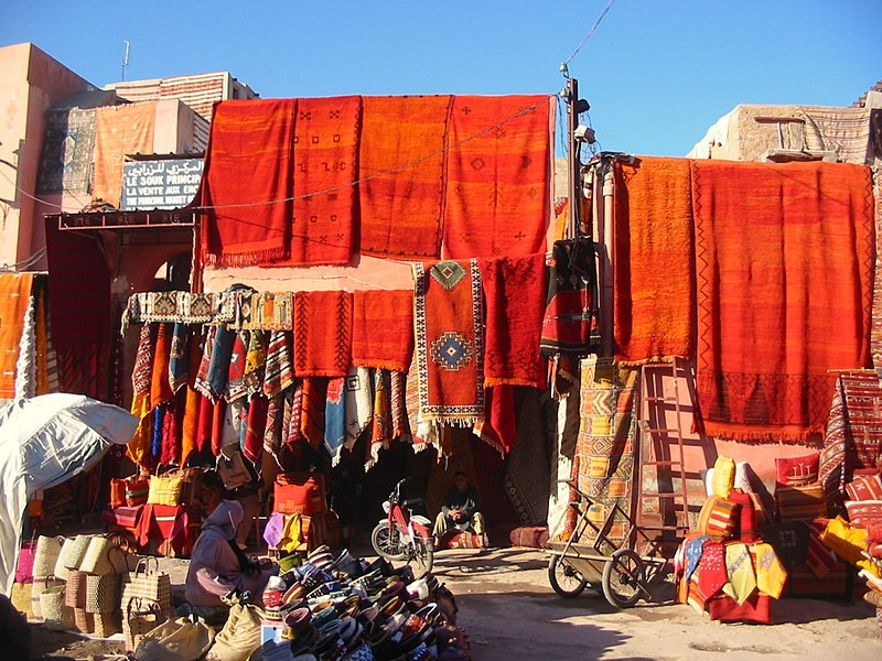 File:Carpets in Marrakech.JPG