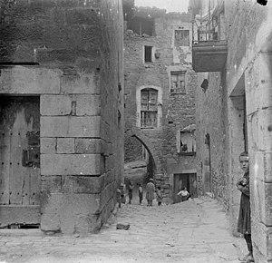 Guimerà - A street in Guimerà, 1916
