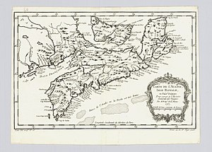 New Brunswick - Acadia in 1757