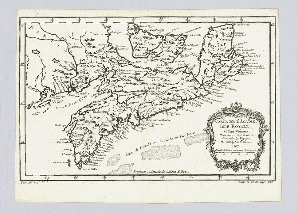 Carte de l Acadie, Isle Royale, et pais voisins