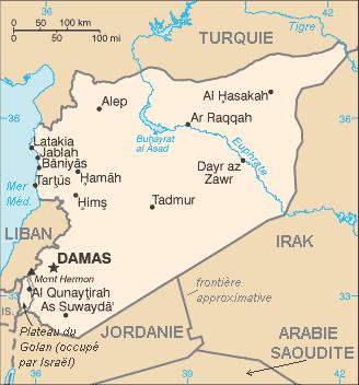 Carte de la Syrie FR