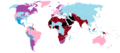 Carte du Monde du statut de l'Homosexualité dans le Monde au 30 Décembre 2012.png