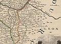 Cartes de Geographie. s. XVIII. Placide de Sainte-Hélène. París (detalle oeste salmantino).jpg