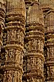 Carving details on the Gopuram, kandariya Mahadev Temple, Khajuraho, Madhya Pradesh.jpg