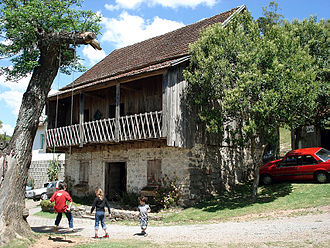 Italian Brazilians - A 19th-century house built by Italian immigrants in Caxias do Sul, Rio Grande do Sul.