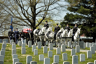 Caspar Weinberger - Weinberger's funeral at Arlington National Cemetery