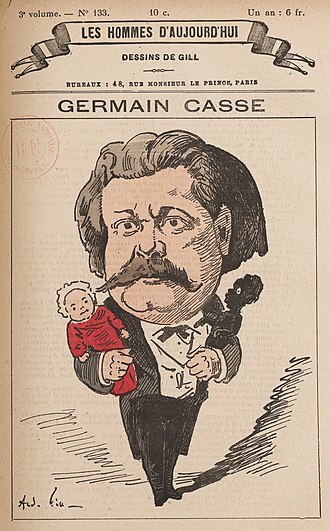 Germain Casse - Casse by André Gill (1878)