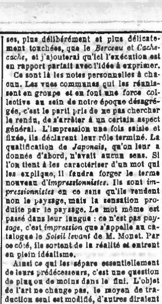 page castagnary exposition du boulevard des capucines journal le si cle 1874 04. Black Bedroom Furniture Sets. Home Design Ideas
