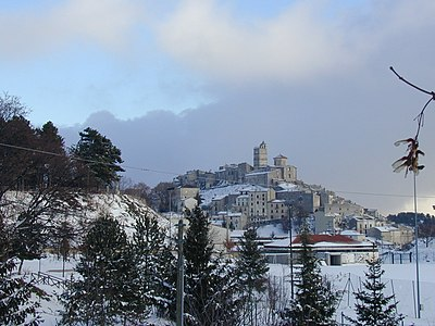 Veduta invernale - Castel del Monte