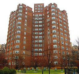 Castle Village 120 Cabrini Boulevard building from west