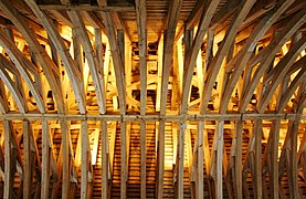 Castle sully france construction of the roof.jpg