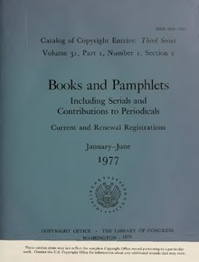 Catalog of Copyright Entries 1977 Books and Pamphlets Jan-June.pdf