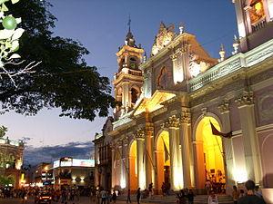 Cathedral of Salta - Image: Catedral de Salta Vista nocturna