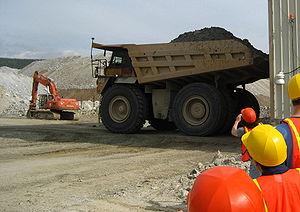 Caterpillar 789 - A Caterpillar 789 in an open pit mine.