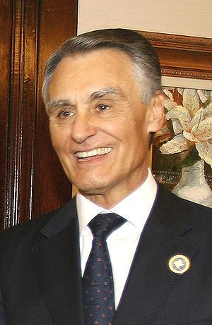 The President of Portugal, Aníbal Cavaco Silva.