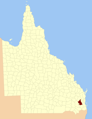 County of Cavendish - Location within Queensland