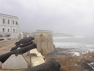 Panyarring - Cape Coast Slave Castle, the main British fort in the Gold Coast for the slave trade.