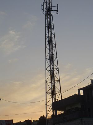cellular antenna in Ein Iron, Israel
