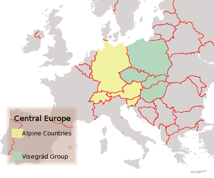 kart mellomeuropa Sentral Europa – Wikipedia kart mellomeuropa