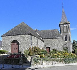The church in Châtillon-sur-Colmont