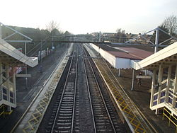 Chadwell Heath stn fast platforms high westbound 2013.JPG