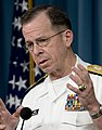 Chairman of the Joint Chiefs of Staff Navy Adm. Mike Mullen addresses the media during a press availability, Pentagon, April 25, 2008 080425-N-TT977-042.jpg