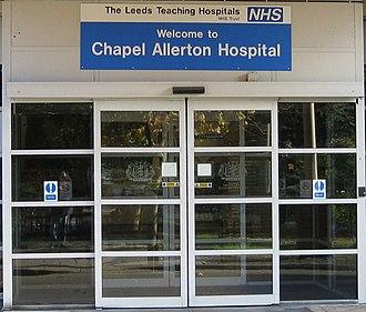 Chapel Allerton Hospital - Image: Chapel Allerton Hosp Ent 3