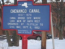 Chenango Canal #9 canal bridge where 114th NY Reg. left for the Civil War in 1862.